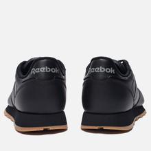 Кроссовки Reebok Classic Leather Black/Gum фото- 2