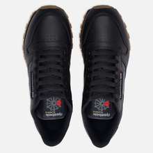 Кроссовки Reebok Classic Leather Black/Gum фото- 1