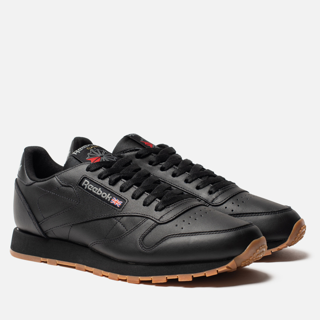 Кроссовки Reebok Classic Leather Black/Gum