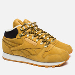 Зимние кроссовки Reebok Classic Leather High Golden Wheat/Dark Brown/White фото- 2