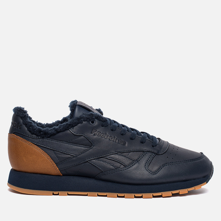Кроссовки Reebok Classic Leather Low Sherpa SPP Core Navy/Brown Malt/Solid Grey/Gum