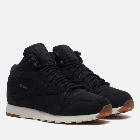 Кроссовки Reebok Classic Leather Mid Gore-Tex Thin Black/Paper White/Gum