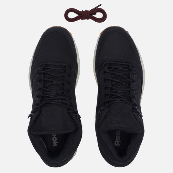 Мужские кроссовки Reebok Classic Leather Mid Gore-Tex Thin Black/Paper White/Gum