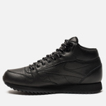 Кроссовки Reebok Classic Leather Mid Ripple Black фото- 1