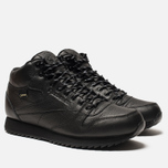 Кроссовки Reebok Classic Leather Mid Ripple Black фото- 2