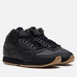 Кроссовки Reebok Classic Leather Mid Ripple Black/Gravel/Gum фото- 0