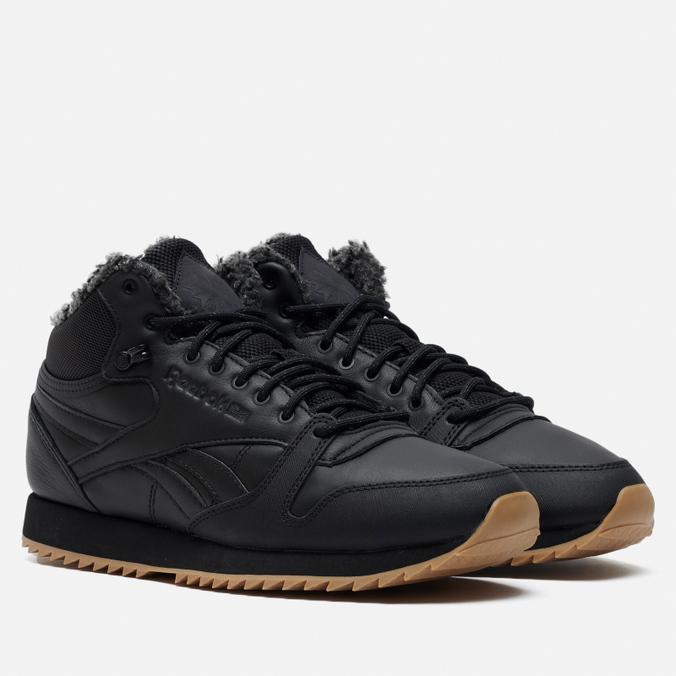 Кроссовки Reebok Classic Leather Mid Ripple Black/Gravel/Gum