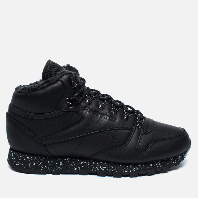 Зимние кроссовки Reebok Classic Leather Mid Sherpa II Perfect Split Black/Flat Grey