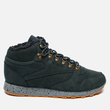 Зимние кроссовки Reebok Classic Leather Mid Sherpa II Perfect Split Dark Green