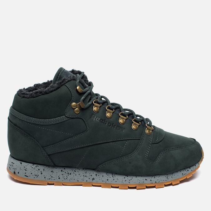 Зимние кроссовки Reebok Classic Leather Mid Sherpa II Perfect Split Dark Green