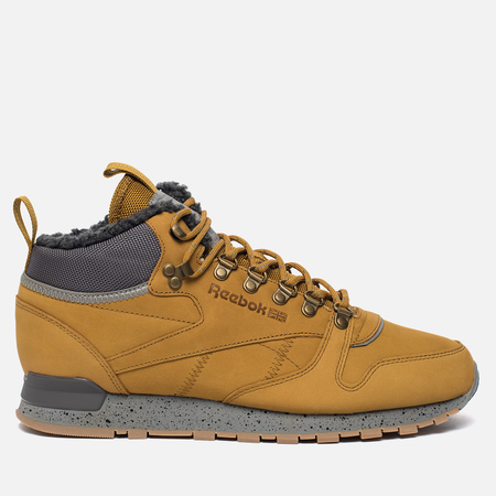 Зимние кроссовки Reebok Classic Leather Mid Sherpa II SPP Wild Khaki/Shark/Flat Grey