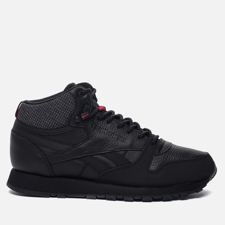 Кроссовки Reebok Classic Leather Mid TWD Black/Red/Black Stone