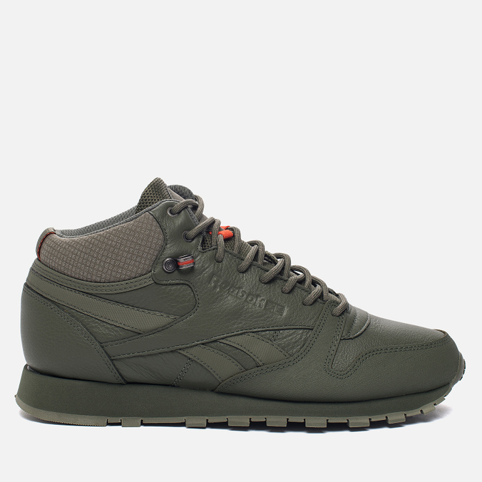 Кроссовки Reebok Classic Leather Mid TWD Hunter Green/Stone Grey
