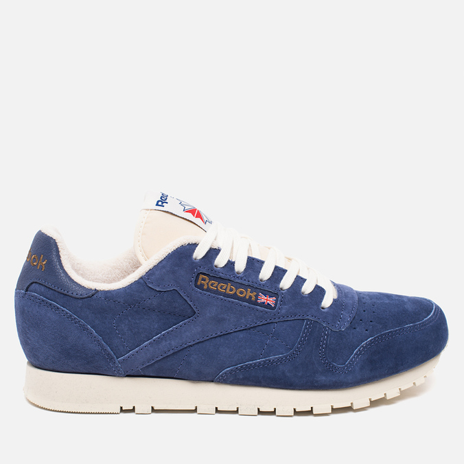 Кроссовки Reebok Classic Leather Midnight Blue/Chalk/Paper White