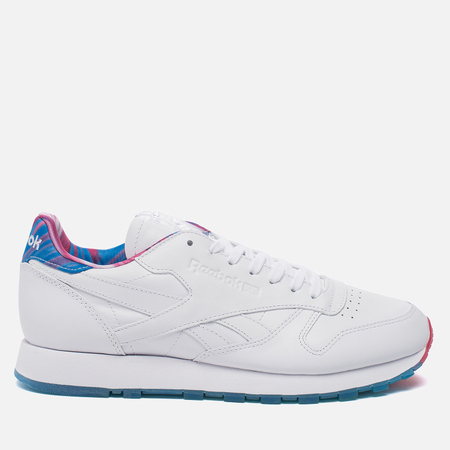 Кроссовки Reebok Classic Leather Munchies Pack White/Horizon Blue/Pink Craze