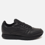 Кроссовки Reebok Classic Leather Ripple Mono Black фото- 0