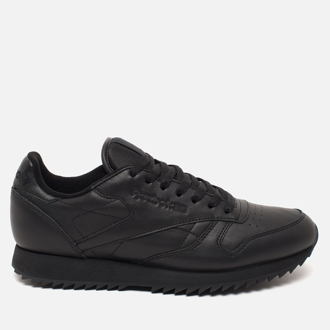 Кроссовки Reebok Classic Leather Ripple Mono Black
