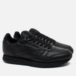 Кроссовки Reebok Classic Leather Ripple Mono Black фото- 1