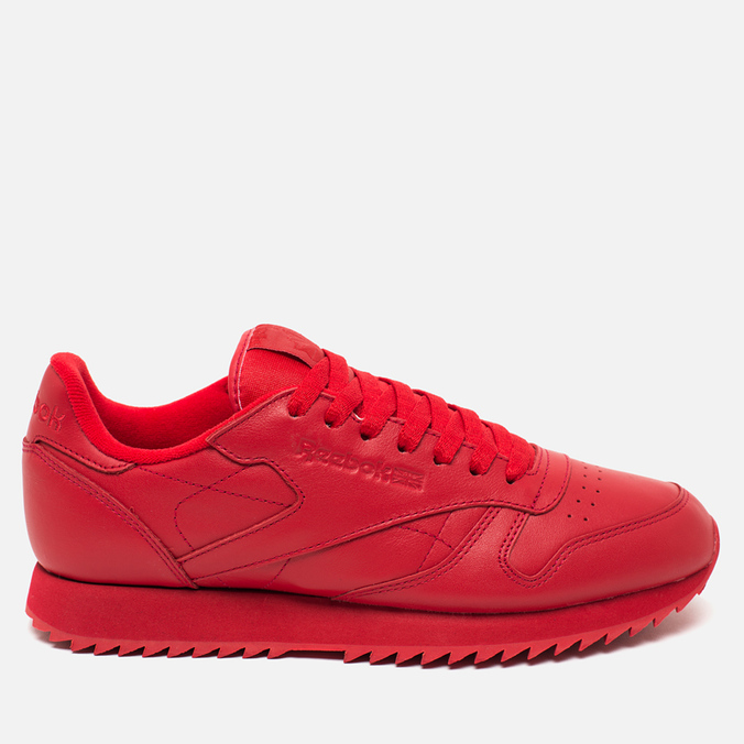 Кроссовки Reebok Classic Leather Ripple Mono Scarlet
