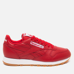 Мужские кроссовки Reebok Classic Leather Scarlet/White/Gum фото- 0