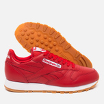 Мужские кроссовки Reebok Classic Leather Scarlet/White/Gum фото- 2