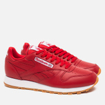 Мужские кроссовки Reebok Classic Leather Scarlet/White/Gum фото- 1