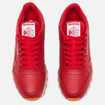 Мужские кроссовки Reebok Classic Leather Scarlet/White/Gum фото- 4
