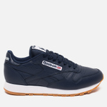 Мужские кроссовки Reebok Classic Leather Collegiate Navy/White/Gum фото- 0