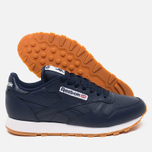 Мужские кроссовки Reebok Classic Leather Collegiate Navy/White/Gum фото- 2
