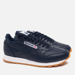 Мужские кроссовки Reebok Classic Leather Collegiate Navy/White/Gum фото- 1