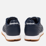 Мужские кроссовки Reebok Classic Leather Collegiate Navy/White/Gum фото- 3