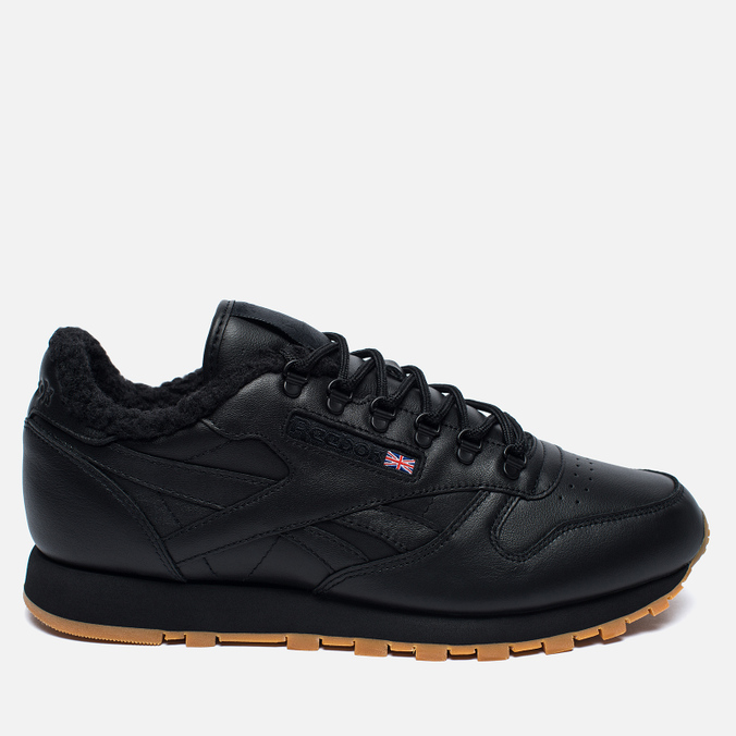 Зимние кроссовки Reebok Classic Leather Sherpa TS Black/Beach Stone/Gum