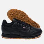 Зимние кроссовки Reebok Classic Leather Sherpa TS Black/Beach Stone/Gum фото- 1