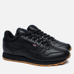 Зимние кроссовки Reebok Classic Leather Sherpa TS Black/Beach Stone/Gum фото- 2