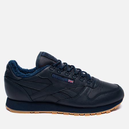 Зимние кроссовки Reebok Classic Leather Sherpa TS Collegiate Navy/Gum
