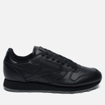 Кроссовки Reebok Classic Leather Solids Italy Pack Black фото- 0