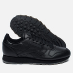 Кроссовки Reebok Classic Leather Solids Italy Pack Black фото- 1
