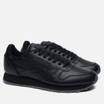 Кроссовки Reebok Classic Leather Solids Italy Pack Black фото- 2