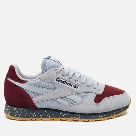 Reebok Classic Leather Speckle Midsole Pack Cloud Sneakers Grey/Merlot/Alloy