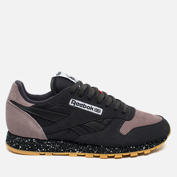 Кроссовки Reebok Classic Leather Speckle Midsole Pack Coal/Moondustst/Black/White/Riot Red