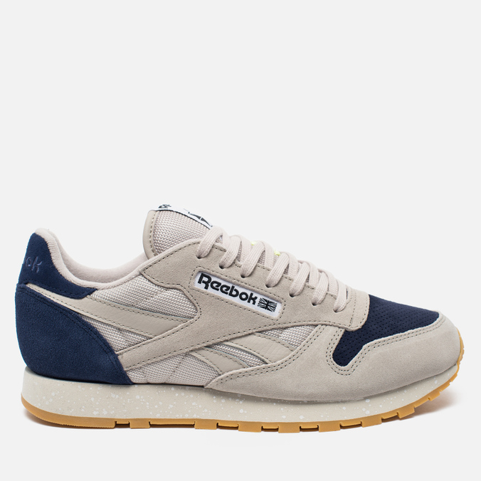 Кроссовки Reebok Classic Leather Speckle Midsole Pack Sand Stone/Blue Ink/Paper White