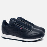 Кроссовки Reebok Classic Leather Premium Collegiate Navy фото- 1