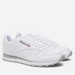 Кроссовки Reebok Classic Leather White/Light Grey фото- 1