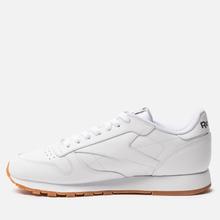 Кроссовки Reebok Classic Leather White/Gum фото- 5