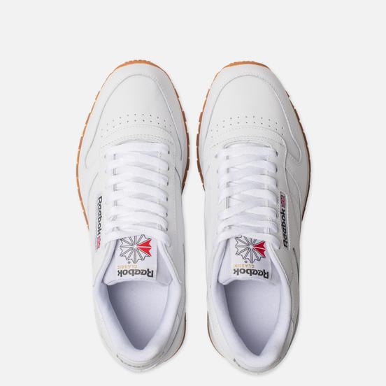 Мужские кроссовки Reebok Classic Leather White/Gum