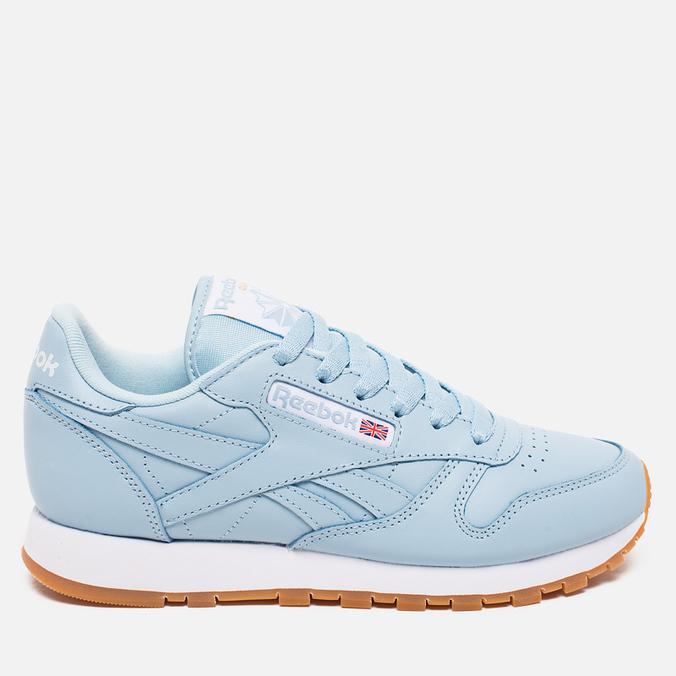 Женские кроссовки Reebok Classic Leather Zee Blue/White/Gum
