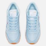 Женские кроссовки Reebok Classic Leather Zee Blue/White/Gum фото- 4