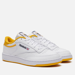 Кроссовки Reebok Club C 85 35th Anniversary White/Fierce Gold/Black