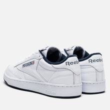Кроссовки Reebok Club C 85 35th Anniversary White/White/Collegiate Navy фото- 2