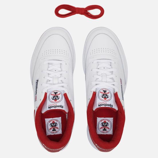 Кроссовки Reebok Club C 85 35th Anniversary White/Legacy Red/Black